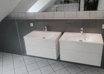Waschtischanlage Fugenlos mit Wandbauplatten