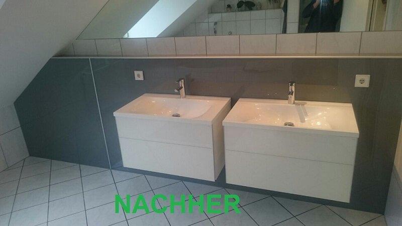 Sanierung von Waschtischanlagen inkl. Vorwanddesignplatten