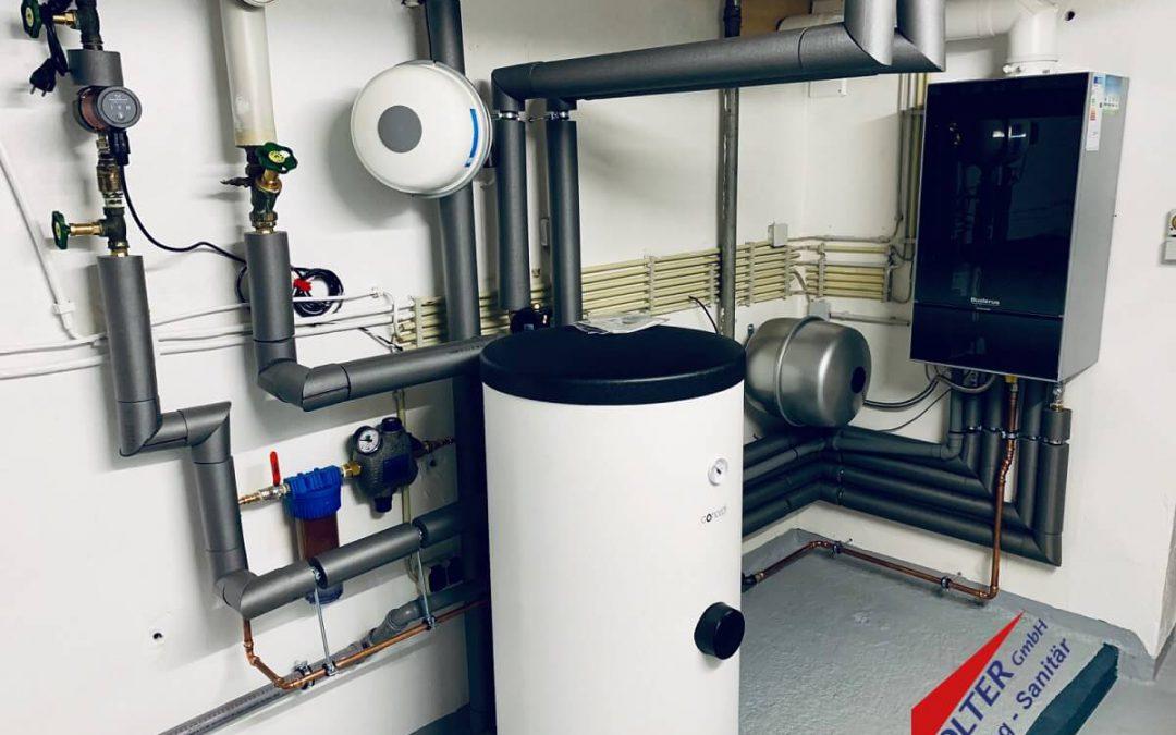 Gas Brennwert Anlage mit Warmwasserbereitung